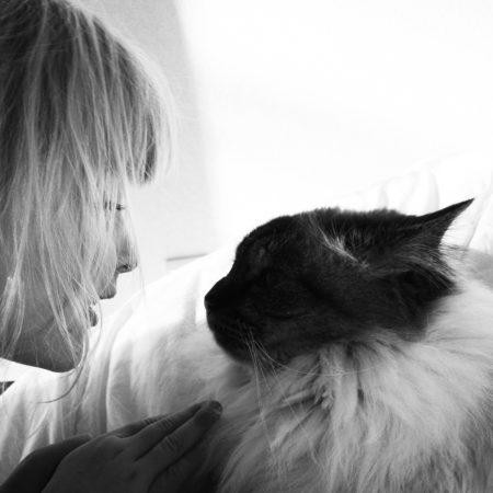 kid-cat-black-and-white