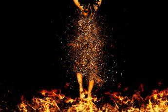 woman-fire