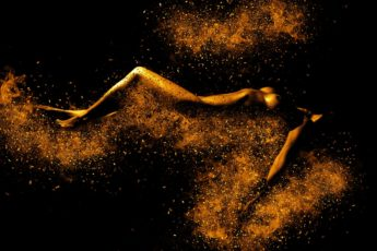 naked-woman-black-and-gold